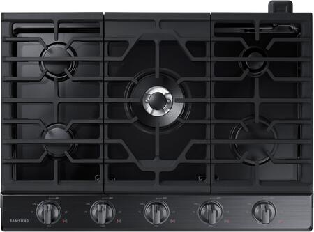 "NA30K6550TG 30"" Gas Cooktop with 5 Sealed Burners  Illuminated Knobs  Aluminum Griddle and Wifi  in Black Stainless"