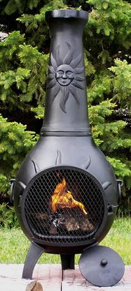 ALCH029CHGKLP Gas Powered Sun Stack Chiminea Outdoor Fireplace in Charcoal - Liquid