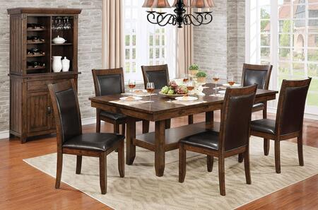 Meagan I Collection CM3152TDTWC6SC 8-Piece Dining Room Set with 78