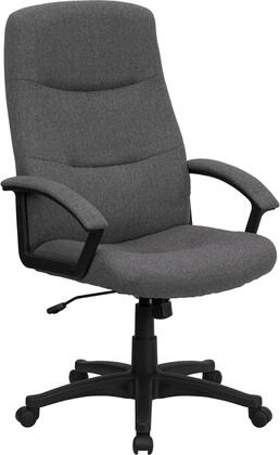BT-134A-GY-GG High Back Gray Fabric Executive Swivel Office