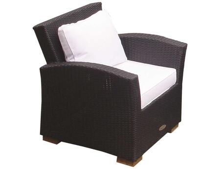CHA1B 30 inch  Charleston Chair in Black with White