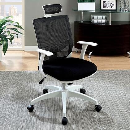 Sargas CM-FC641BK Office Chair with Contemporary Style  Height Adjustable Headrest  Mesh Back and Cushion Seat  Adjustable Height in