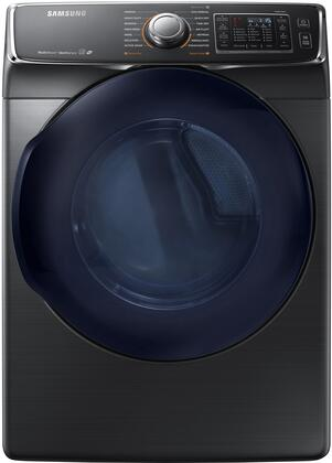 "DV45K6500GV 27"" Gas Front-Load Dryer with 7.5 cu. ft. Capacity  14 Dry Cycles  5 Temperature Settings  MultiSteam function and Sensor Dry: Black"