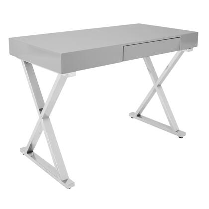 OFD-TM-LSTR GY Luster Contemporary Office Desk In