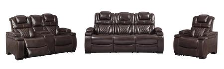 Warnerton Collection 75407-15-18-13 3-Piece Living Room Sets with Motion Sofa  Loveseat and Recliners in