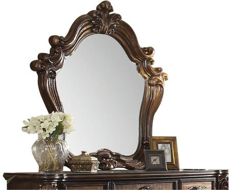 Versailles 21104 48 inch  x 47 inch  Beveled Mirror with Solid Wood Construction  Scrolled and Carved Frame in Cherry