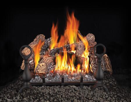 Fiberglow Series GL18NE 18 Vented Natural Gas Log Set with Electronic Ignition  Up to 55 000 BTU's  PHAZER  Log Set  Cast Iron Grate and Back-up Control