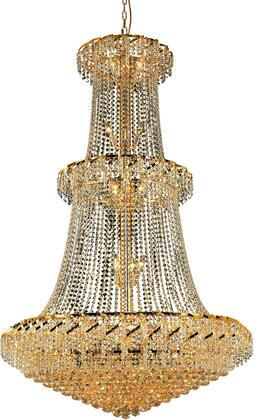 VECA1G42G/EC Belenus Collection Chandelier D:42In H:66In Lt:32 Gold Finish (Elegant Cut