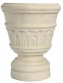 Wilton Collection URN-1518 15 Urn with Classical Design and Cast Limestone in Natural