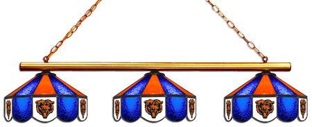 18-1119 Chicago Bears Glass 3 Shade Lamp