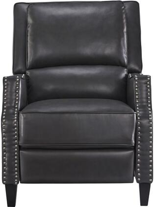 Alston Collection 4218831 30 inch  Recliner with Nail Head Accents  Tapered Legs  Splender Knee Cut Arms  Split Back Cushion and Bycast PU Leather Upholstery in
