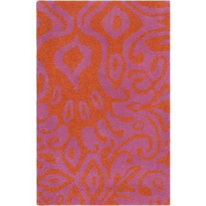 Alhambra Alh5015-23 2 X 3 Rectangular 100% Wool Hand Tufted Rug With Medium Pile And Made In India In Magenta And