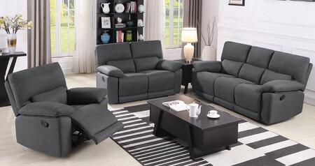 Hartville Collection 650254-S3 3-Piece Living Room Set with Reclining Sofa  Reclining Loveseat and Recliner in