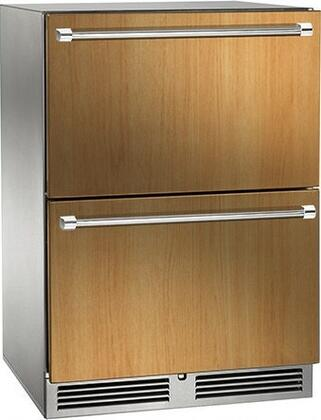 """Signature Series HP24ZS6 24"""" Dual Zone Counter Depth Freezer/Refrigerator Drawer with 5 cu.ft. Capacity  1 000 Btu Variable-Speed Compressor and Digital"""