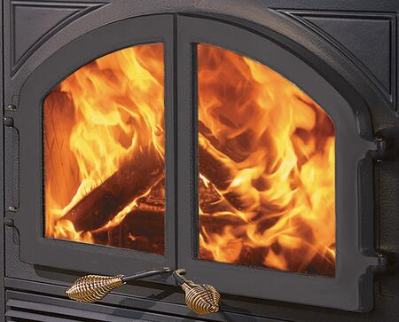 MHE-DD-B Cast-Iron Double Fireplace Doors from the Bordeaux Collection