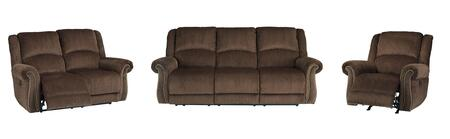 Goodlow Collection 79003SLR 3-Piece Living Room Set with Power Reclining Sofa  Loveseat and Recliner in