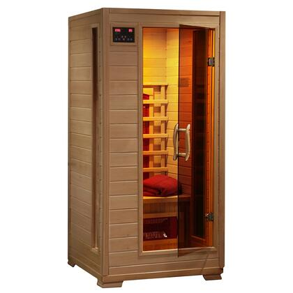 Buena Vista SA2400 1 Person Infrared Sauna with 3 Ceramic Heaters  Ergonomic Back Rests  EZ Touch Control Panel  Recessed Interior Lighting  and Sound System
