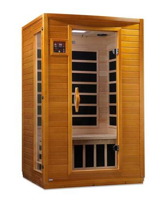 "Versailles HF Edition DYN-6202-03 75"" Far Infrared Sauna with 2 Person Capacity  6 Carbon Heating Elements  MP3 Auxiliary Socket and Interior Reading"