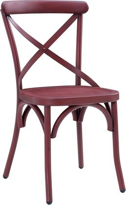 DS-D069 20 inch  Metal Dining Chair with All-Metal Construction and Classic 'X' Back Style in Distressed Antique