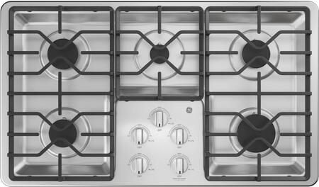 JGP3036SLSS 36 Gas Cooktop with 5 Sealed Burners  Precise Simmer Burner  Heavy Duty Dishwasher Safe Grates  in Stainless