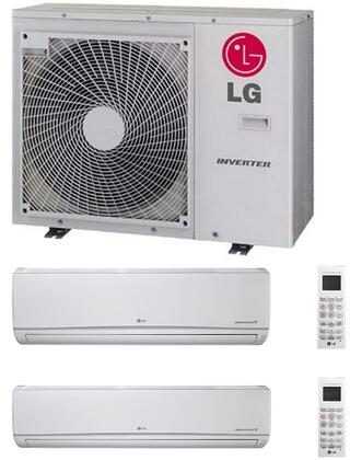 LMU30CHVKIT Dual Zone Mini Split Air Conditioner System with 30000 BTU Cooling Capacity  2 Indoor Units  and Outdoor 700828