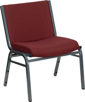 XU-60555-BY-GG HERCULES Series 1000 lb. Capacity Big and Tall Extra Wide Burgundy Fabric Stack