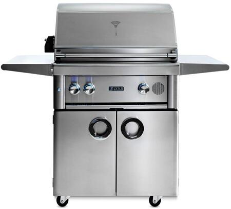 "SMART30F-NG 30"" Professional Series Freestanding Natural Gas Smart Grill on Cart with 2 Trident ProSear2 Infrared Burners  840 sq. in. Cooking Surface  Smart"