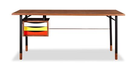 DESK-THEORY-WAL-YEL Color Theory Mid-Century Modern Writing Desk 67