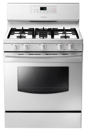 "NX58F5500SW 30"""" Freestanding Gas Range With 5.8 Cu. Ft. Capacity  5 Burners  53K BTU Total Power  Continuous Matte Grates  0.7 Cu. Ft. Storage Drawer  Self"" 332120"