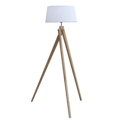 FMI1019-NATURAL Zone Floor Lamp with 3 Wood Legs and Polypropylene Lamp Shade in Natural