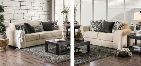 Durand Collection SM1274-SL 2-Piece Living Room Set with Stationary Sofa and Loveseat in