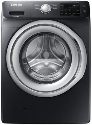 "WF45N5300AV 27"""" Front Load Washer with 4.5 cu. ft.  SmartCare  Diamond Drum Interior  VRT Plus  Technology  and Self Clean  in Black Stainless"" 903543"