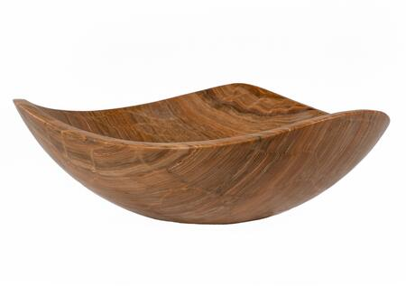 EB_S032WY-P Wooden Marble Freeform Vessel Sink in