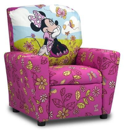 Juvenile 13001DMIN  inch Mixy inch  Kid's Recliner with Cup Holder  Ottoman  Soft Densified Fiber Upholstery and Hardwood Frame: Disney's Minnie Mouse Cuddly