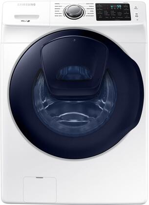 Samsung WF45K6200AW 27 Inch 4.5 cu. ft. Front Load Washer with AddWash, 12 Preset Wash Cycles, 10 Wash Options, 1,300 RPM, Smart Care, Vibration Reduction Plus, Self Clean Plus and ENERGY STAR Certification: White WF45K6200AW