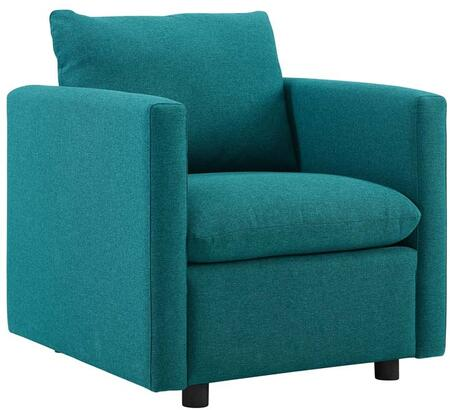 Modway EEI-3045-TEA Activate Upholstered Fabric Armchair Teal