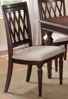 Sophia SOPCHR Dining Chair with Fabric Upholstered Seat  Piped Stitching  Turned Legs and Molding