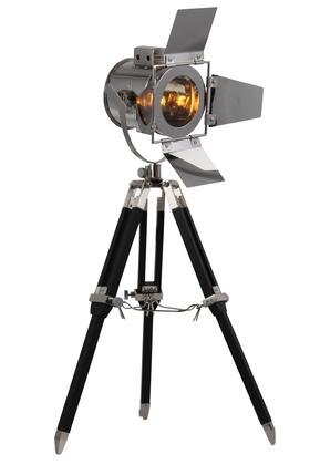 FL1200 Ansel Tripod Floor Lamp D: 6.5 H: 15.5 Lt: 1 Chrome & Black