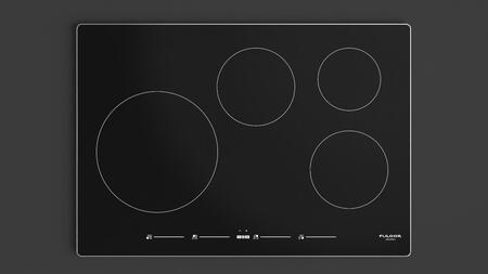 "F7IT30S1 30"" 700 Series Induction Cooktop with 4 Elements Slide Touch Controls and Low Temperature Function in Black with Aluminum"