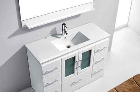 MS-6736-C-WH-001 Modern 36 Single Sink Bathroom Vanity Set White w/Brushed Nickel