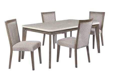 Primm Collection D1083D17 5-Piece Dining Room Set with Table and 4 Side Chairs in Espresso