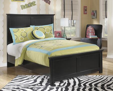 Maribel B138-84/86/87 Full Size Panel Bed with Clean-Line Design  Scalloped Top and Base and Low Profile in