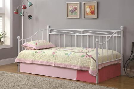 Daybeds Collection 300109 Twin Size Daybed with Two Inch Metal Tubing Construction and Country Cottage Appeal in