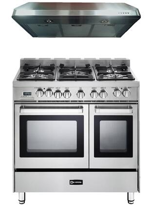 2-Piece Stainless Steel Kitchen Package with VEFSGE365NDSS 36