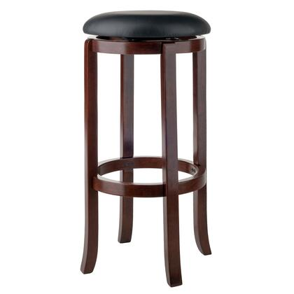 Walcott Collection 94160 30 inch  Swivel Bar Stool with Faux Leather Seat  Gently Flared Legs and Footrest in