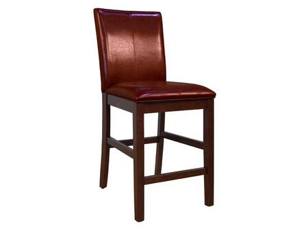 PRSES322K Parson Curved Back Stool with Solid Hardwood Legs in Espresso  No Sag Spring Seating and Easy Care PU Leather Cover in