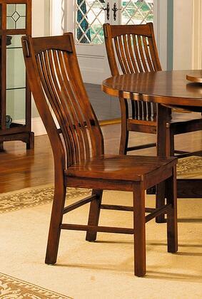 LAUOA275K Laurelhurst Slatback Side Chair  Contoured Solid Wood Seat  Mission Oak