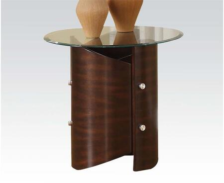 80195 Dajon End Table with Glass Top in