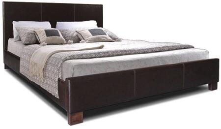 IDB048-BROWN-FULL Baxton Studio Pless Modern Bed - Full Size  In Dark