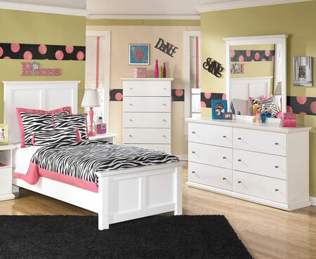 Bostwick Shoals Twin Bedroom Set With Panel Bed  Dresser  Mirror In